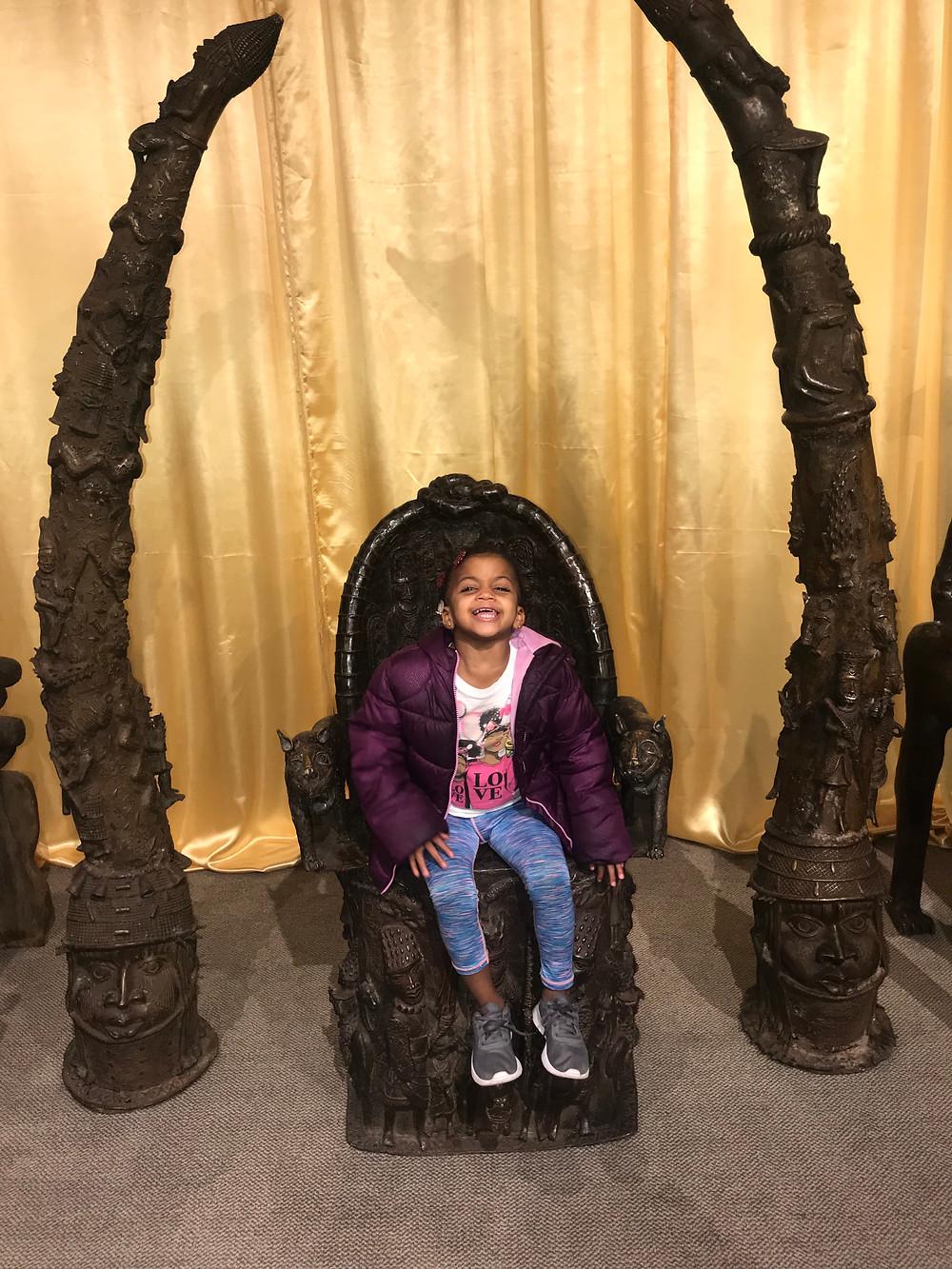 ZAra Having Big Fun In A West African Throne