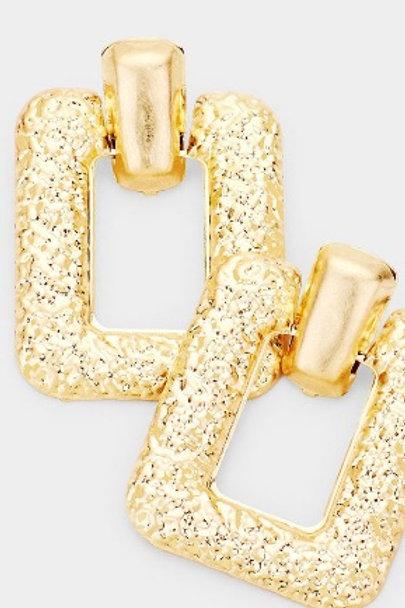 """""""Diva"""" Rectangle Earrings"""