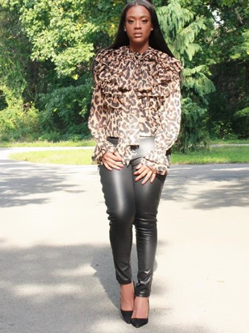 Lost Ink Leopard Blouse