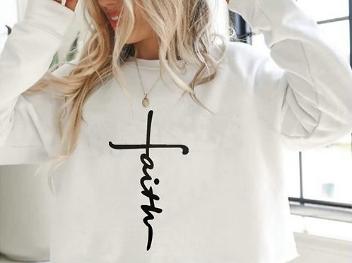 """Faith"" Cropped Sweater"