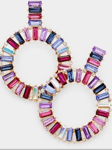 """Shine Bright"" Circle Earrings"