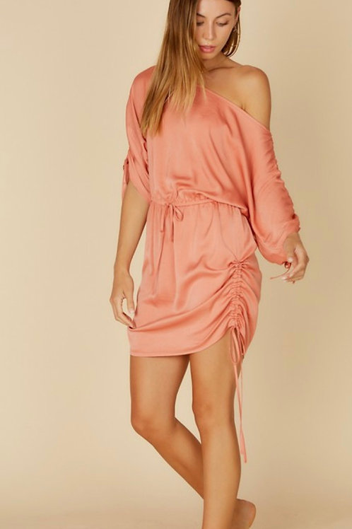 """Rising Sunset"" Ruched Dress"