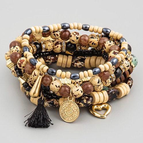 """""""Jazzy"""" Beaded Stone Bracelet"""