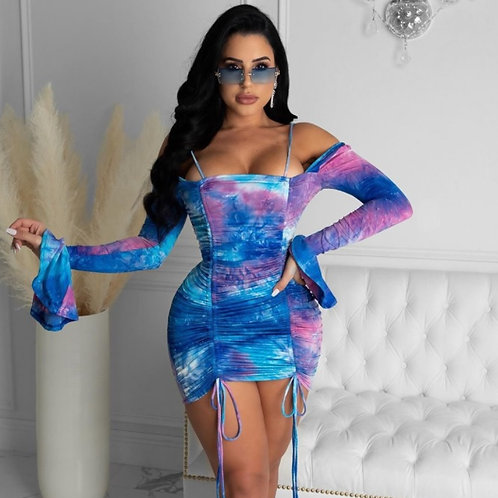 """""""Out and About"""" Tie Dye Dress"""