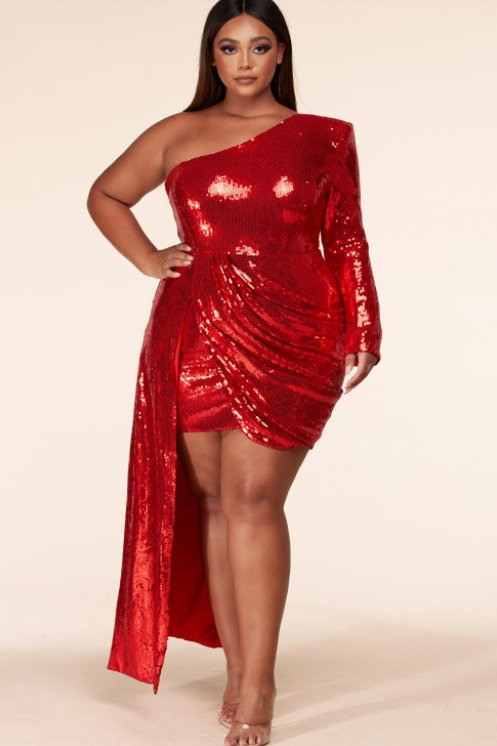 """Passion"" Sequin Curvy Dress"