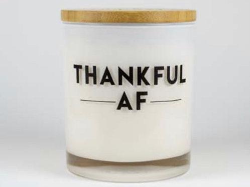 """""""Thankful AF"""" Candle"""