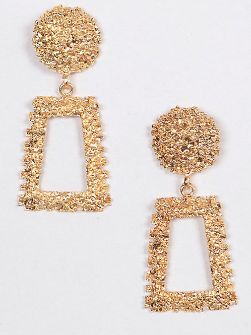 """Drop Top"" Earrings"