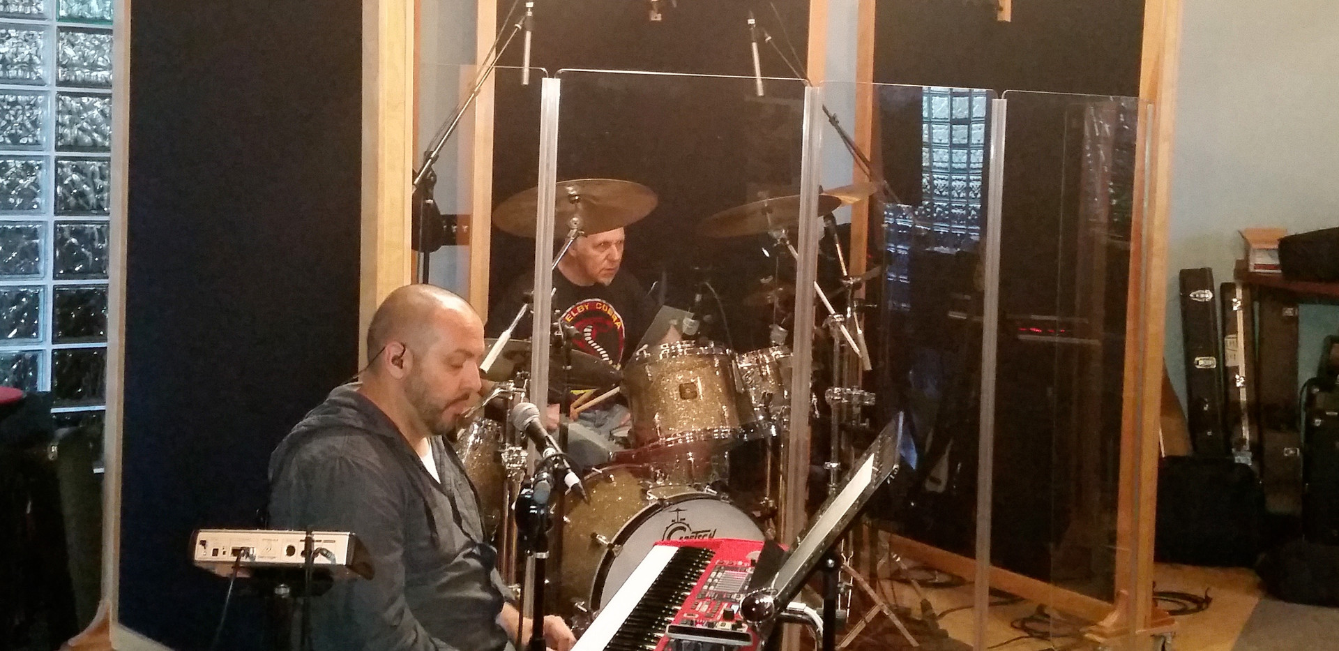 Tim P & Lang on drums