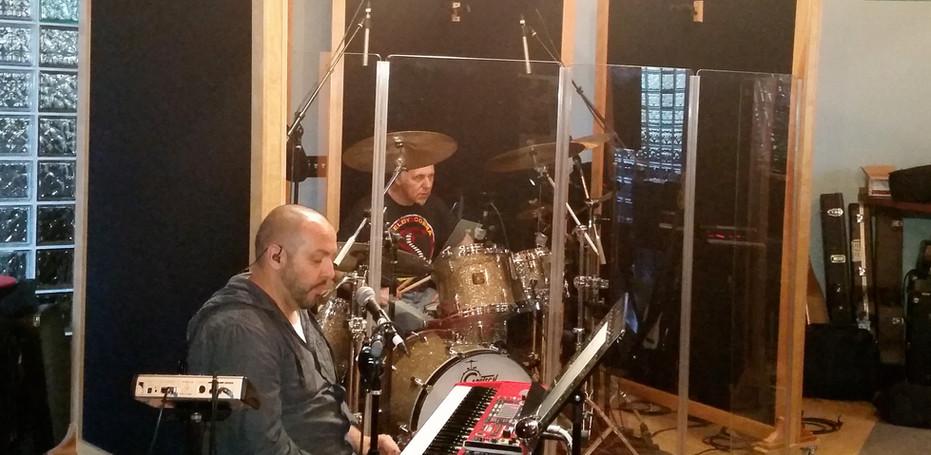 Tim P & Lang on drums