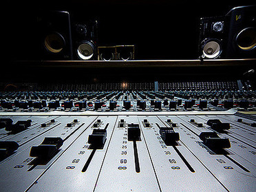 Neve Console and Speakers