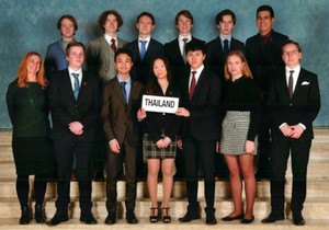 Students travel to The Hague for THIMUN 2020