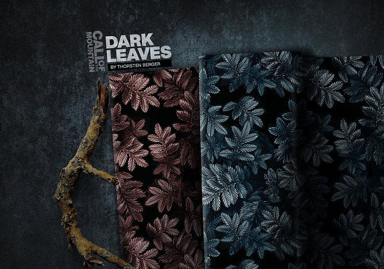 ab 0.5m Dark Leaves by Torsten Berger Viskose
