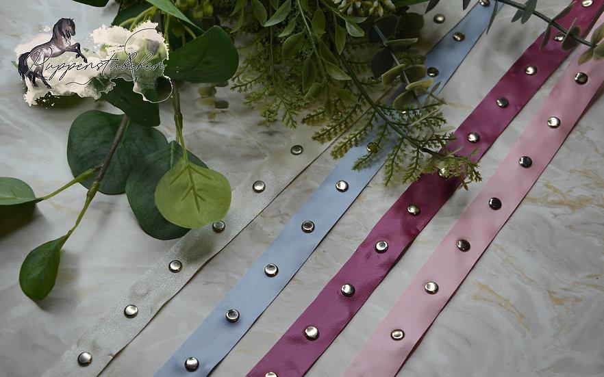 Kunstleder Nietenband