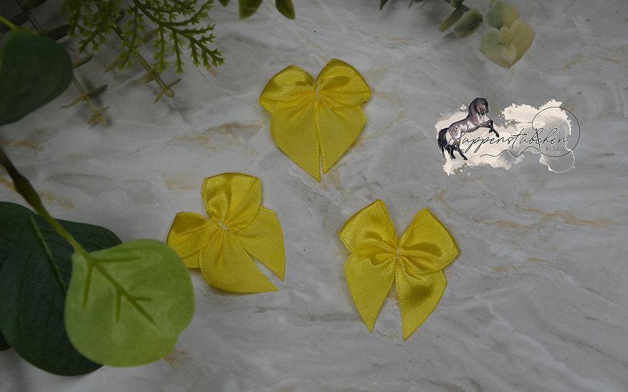Satin Schleifen Gelb