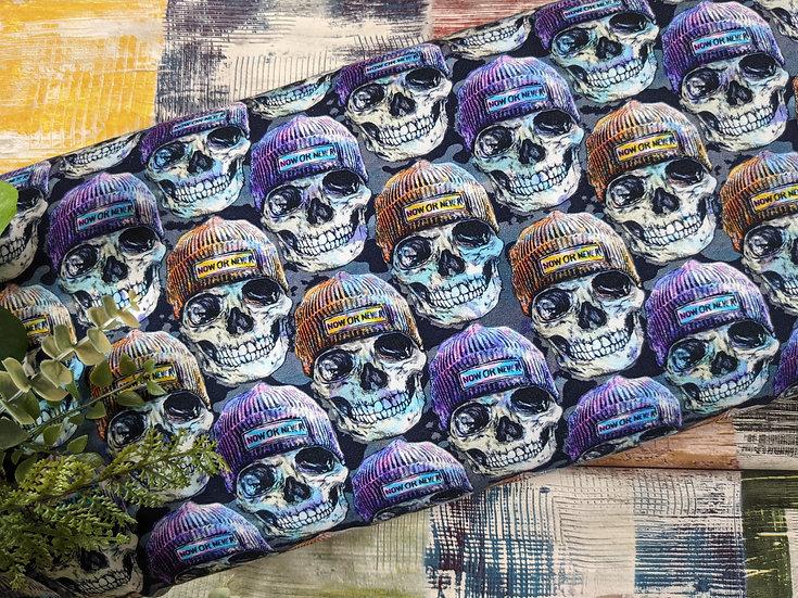 Ab 0.5m Blue Hipster Skulls