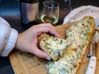 Spinach, Tomato, & Feta Stuffed Bread