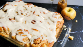 Apple Butter Cinnamon Rolls with Caramel Frosting