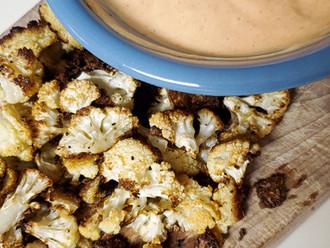 Roasted Cauliflower with Spicy Korean Aioli