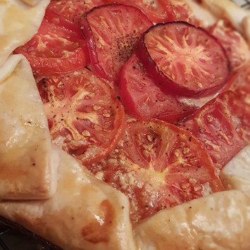 Heirloom Tomato & Honey Goat Cheese Galette