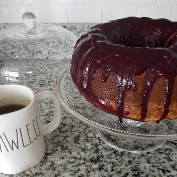 A Southern Staple: Sour Cream Pound Cake with Berry Coulis
