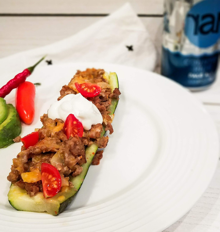 Low Carb Zucchini Taco Boats