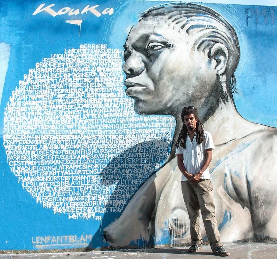 Kouka Ntadi, Graffiti et Street Art