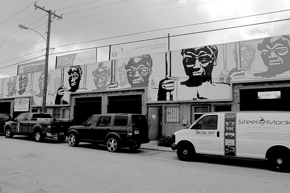 Kouka Ntadi, Street Art in Miami