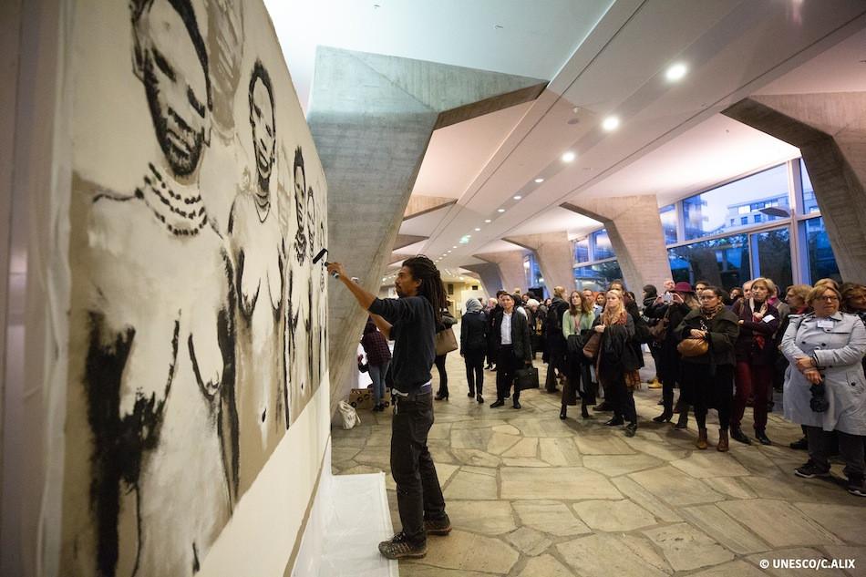 Unesco Performance Live painting Kouka