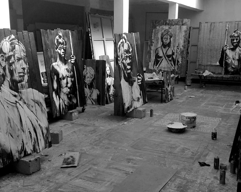 Kouka Ntadi, Atelier, Résidence d'Artiste
