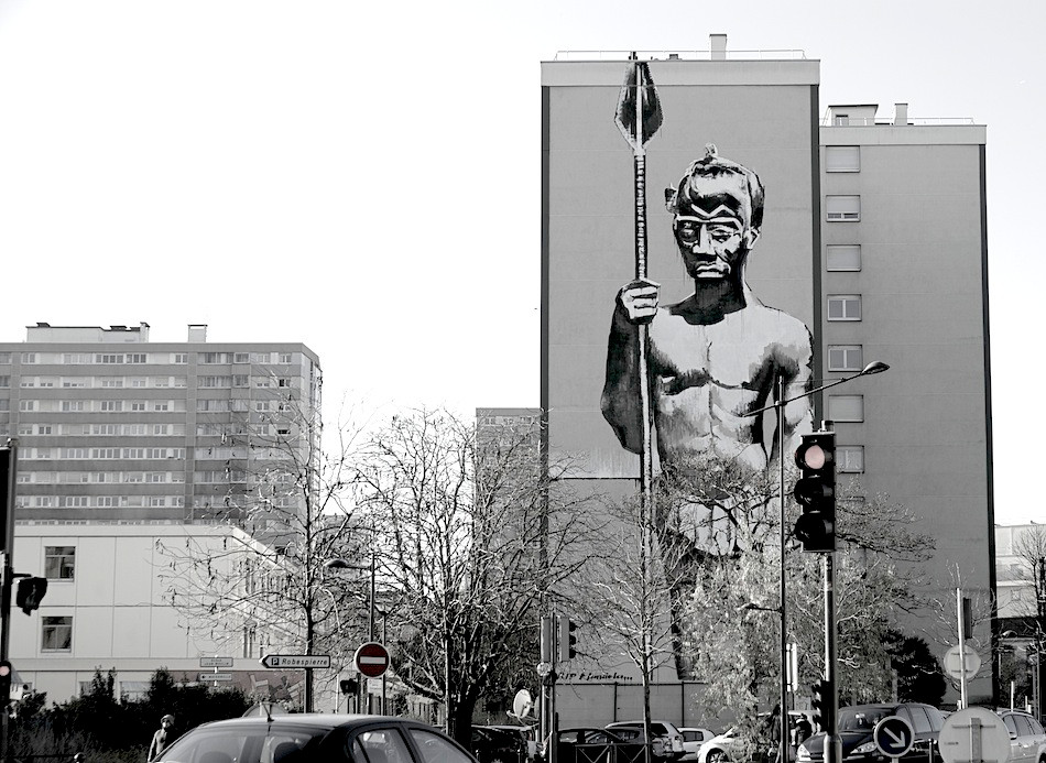 Kouka Ntadi, Street Art intervention
