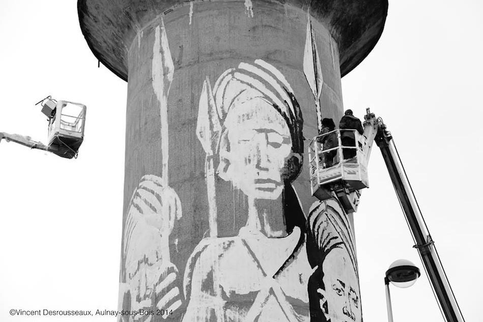Urban Art intervention par Kouka Ntadi