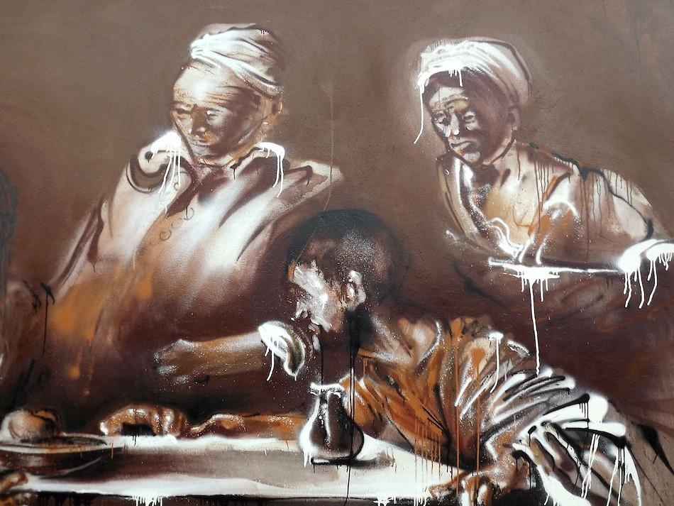 Kouka Ntadi Street Art à Emmaus