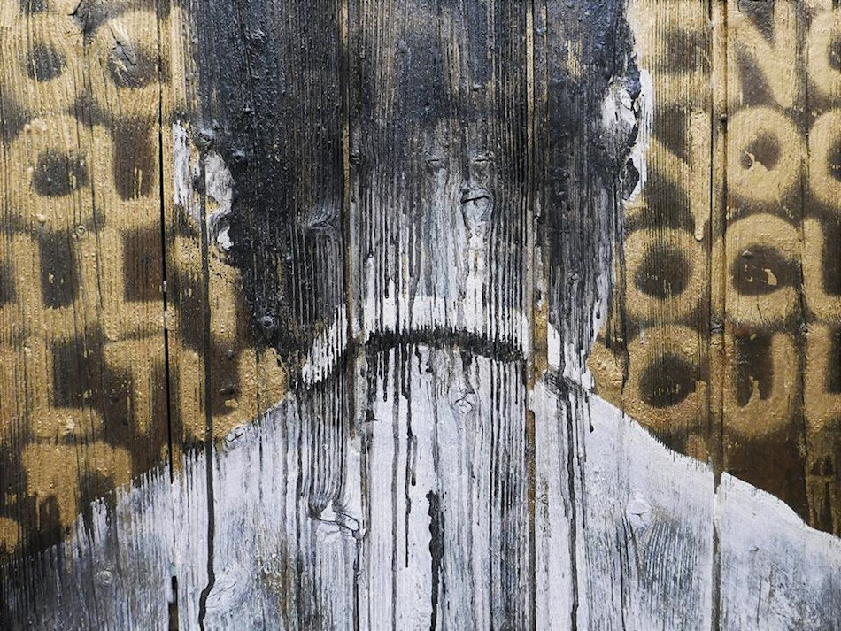 "Kouka Ntadi, Art on wood ""Palissades"""