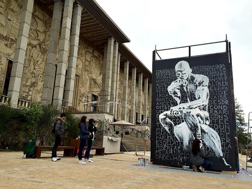 Kouka Ntadi: Live Painting and Urban Art