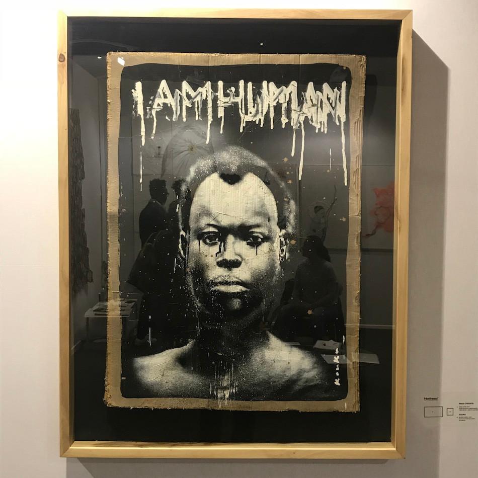 "Kouka Ntadi, portrait ""I Am a Man"""