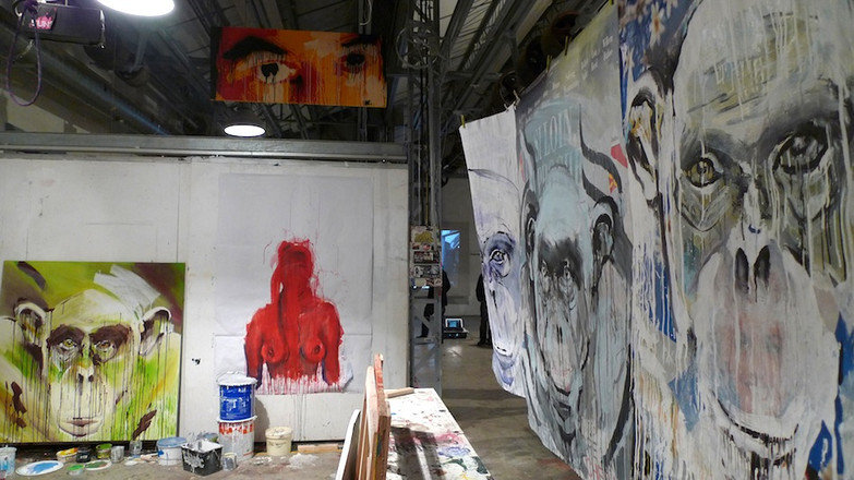 Kouka ntadi, Studio view, la Forge de Belleville, Atelier d'artistes