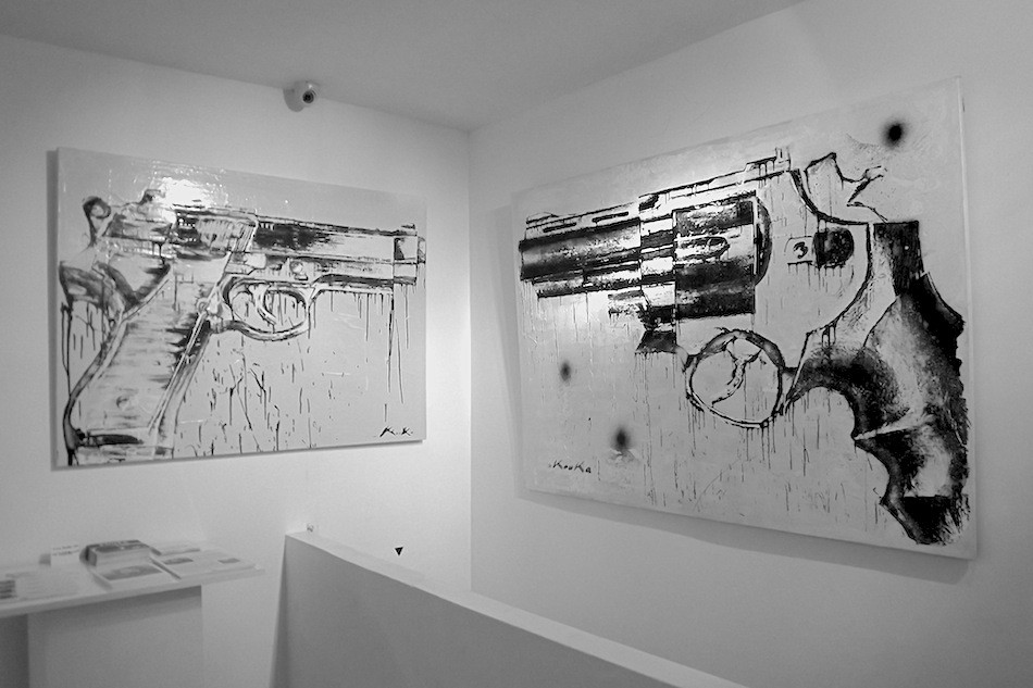 "Kouka Ntadi, ""crying guns"""