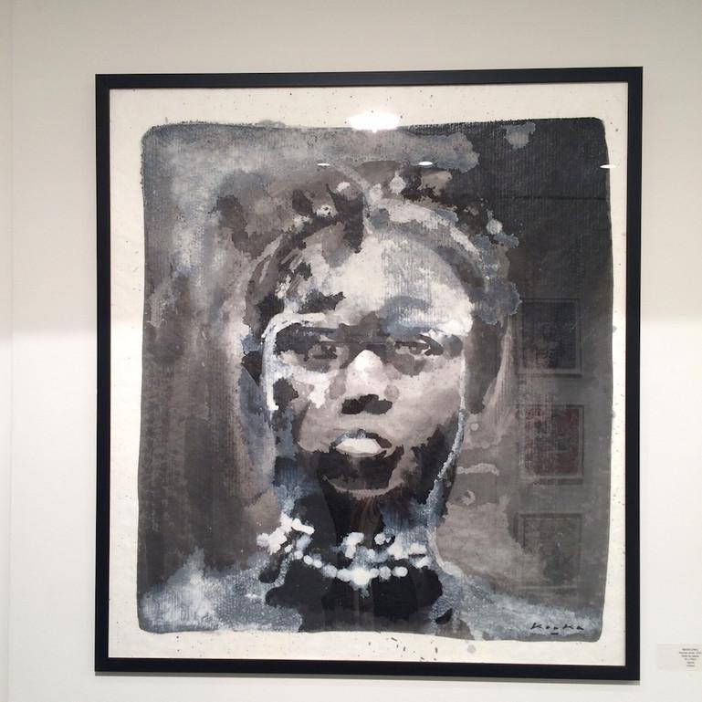 Kouka Ntadi, portrait bantu (Huile sur papier)