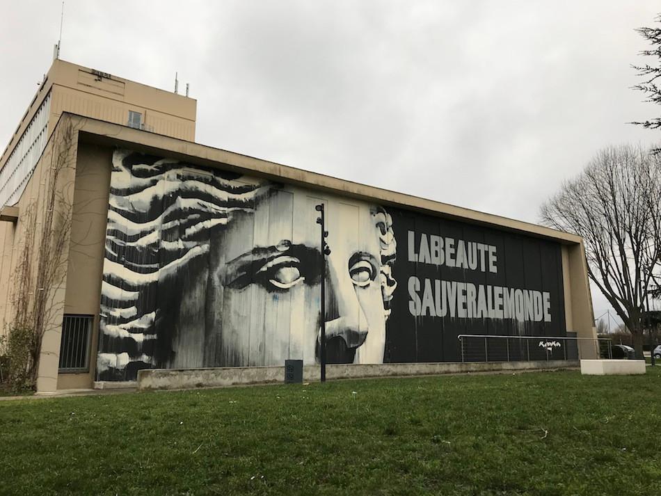 Mural Kouka Ntadi: Le Louvre - Nanterre Université
