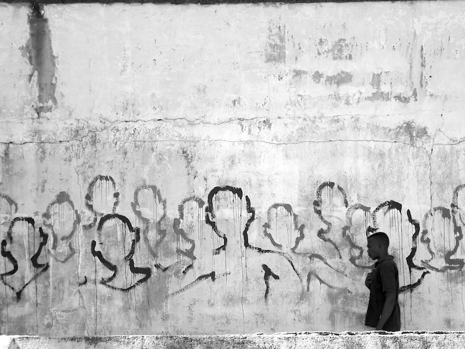 Kouka Ntadi: Street Art, Urban art intervention