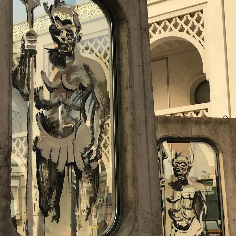 """Kouka Ntadi, """"Guerriers Bantu de la République, Musée Mohammed VI, Rabat"""