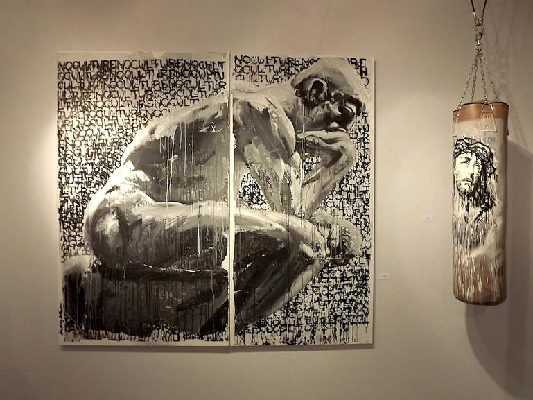 Kouka Ntadi, Artworks: Penseur, Jesus,...