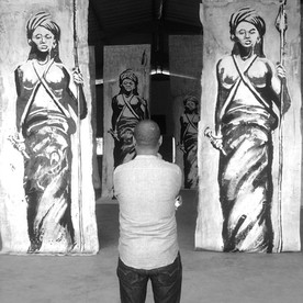 Kouka Ntadi, Art installation in-situ