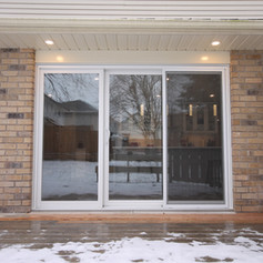 Replaced window with a new sliding door