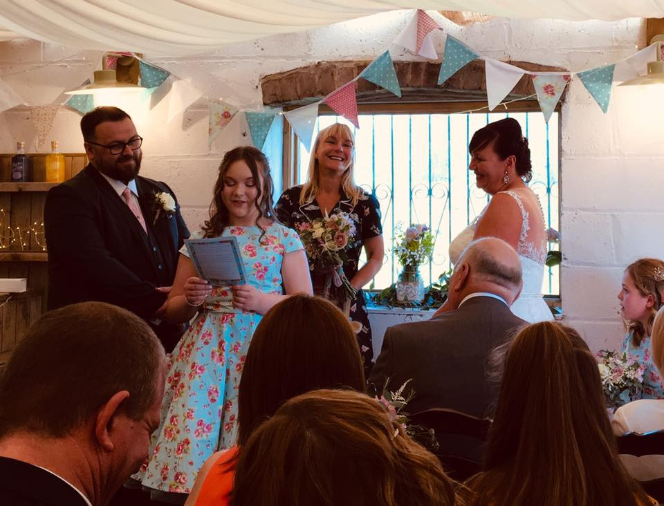 A red True to You Celebrant led ceremony