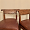 Thumbnail: PAIR OF LEATHER AND WALNUT BARSTOOLS