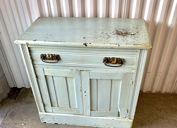 ANTIQUE PINE PAINTED CHEST