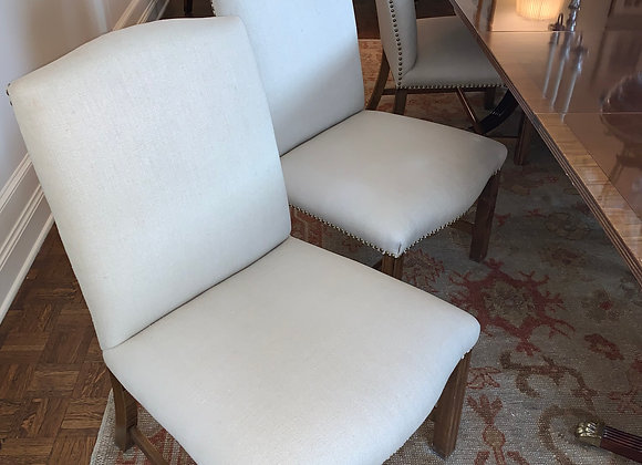 6 UPHOLSTERED FRENCH DINING CHAIRS