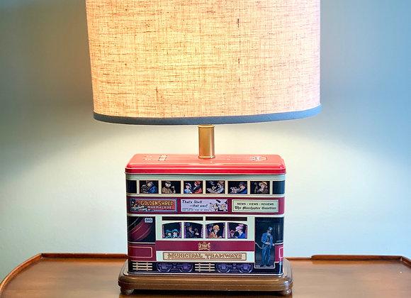 ENGLISH BISCUIT TIN TRAIN LAMP