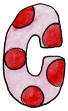 C L Pink Red Dot